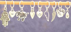 A small selection of our charm stitch markers