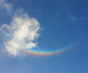 A sundog masquerading as an upside down rainbow